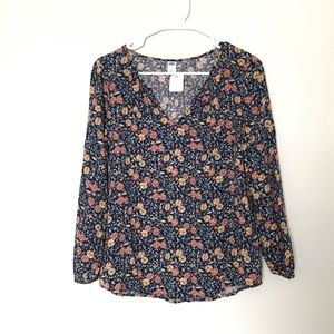 Old navy long sleeve floral top